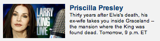 Priscilla Presley, EX-WIFE of Elvis.