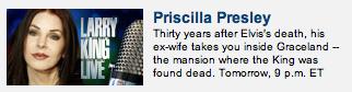 Priscilla Presley, EX-WIFE of Elvis.