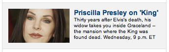 Priscilla Presley, widow of Elvis NOT!