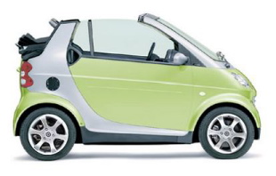 Smart Car (green with silver trim)