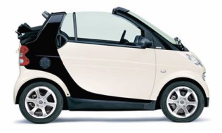 SmartCar White & Black